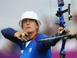 Berengere Schuh of France competes during her Women's Individual Archery Quarter Final match against Khatuna Lorig of the United States on Day 6 of the London 2012 Olympic Games at Lord's Cricket Ground on August 2, 2012