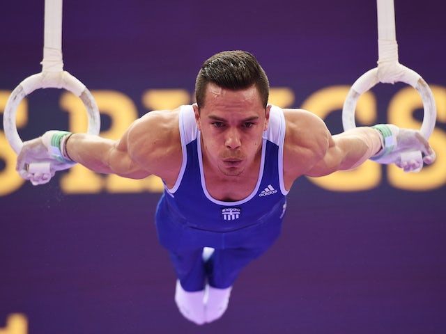 Eleftherios Petrounias of Greece competes in the Men's Rings final on day eight of the Baku 2015 European Games at the National Gymnastics Arena on June 20, 2015