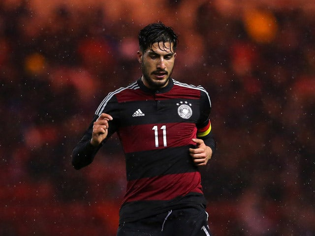 Emre Can of U21 Germany during the International Friendly match between U21 England and U21 Germany at the Riverside Stadium on March 30, 2015