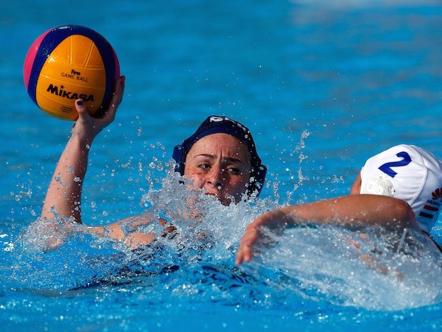Team GB water polo star Grace Rowland in action during the final prelim against Hungary at the European Games on June 16, 2015