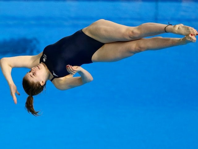 GB diver Katherine Torrance on her way to gold in the women's 3m event at the European Games on June 21, 2015