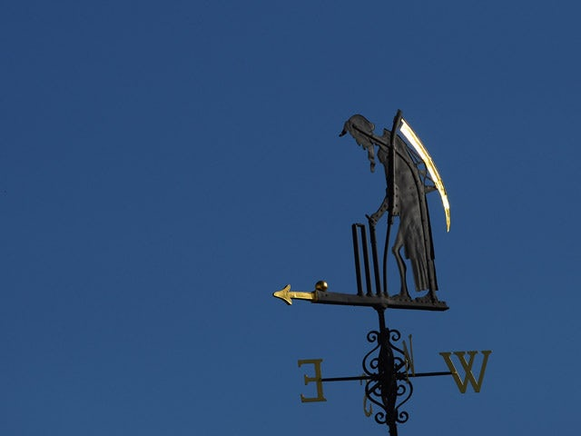 The Old Father Time weather vane during day two of the 2nd Investec Ashes Test match between England and Australia at Lord's Cricket Ground on July 19, 2013