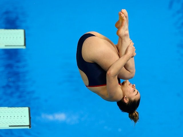 Team GB diver Lydia Rosenthall during the women's 3m event at the European Games on June 21, 2015