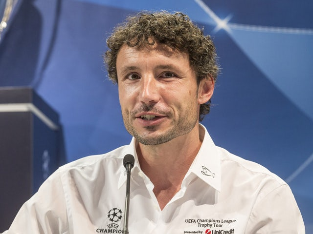 UEFA Ambassador Mark van Bommel attends the press conference prior to the Unicredit UEFA Champions League Trophy Tour on October 2, 2014