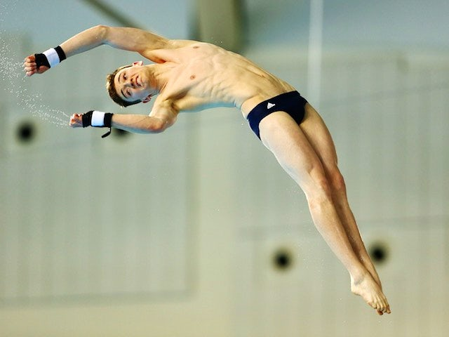 Matty Lee on his way to gold during the men's platform event at the European Games on June 21, 2015