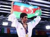 Milad Beigi Harchegani of Azerbaijan wins Gold in the Taekwondo Men 80Kg during day six of the Baku 2015 European Games at the Crystal Hall on June 18, 2015