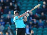 Moises Henriques of Surrey bats during the NatWest T20 Blast match between Kent and Surrey at The County Ground on May 29, 2015