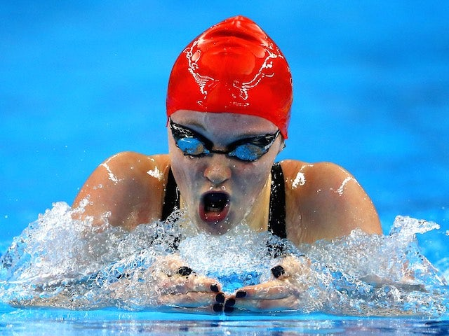 Team GB swimmer Abbie Wood in action during the women's 400m medley final at the European Games on June 23, 2015
