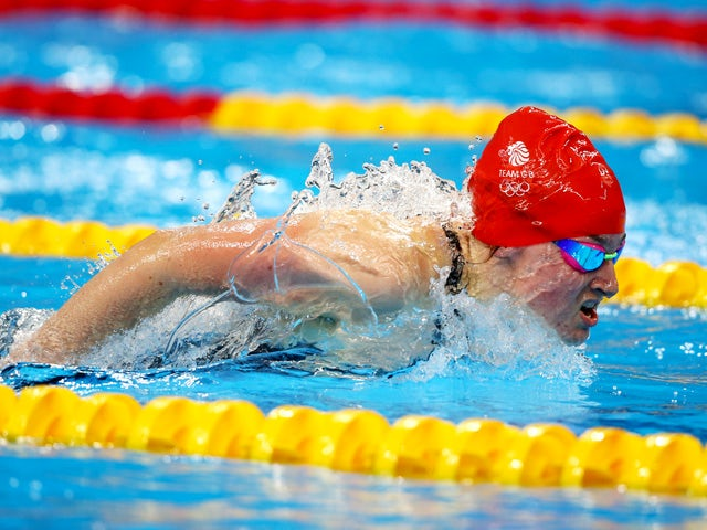 Amelia Clynes of Great Britain competes in the Women's 100m Butterfly semi final during day thirteen of the Baku 2015 European Games at the Baku Aquatics Centre on June 25, 2015