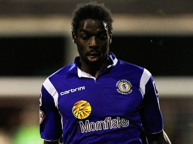 Anthony Grant of Crewe in action during the Sky Bet League One match between Brentford and Crewe Alexandra at Griffin Park on November 16, 2013