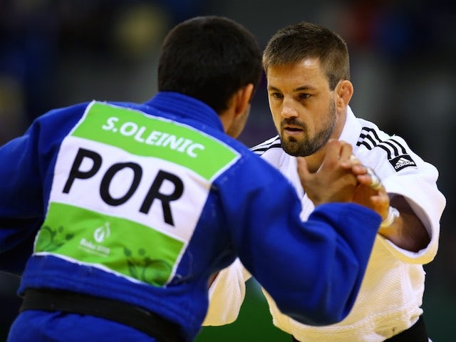 Team GB judoka Colin Oates 'So Simple' in action at the European Games on June 25, 2015