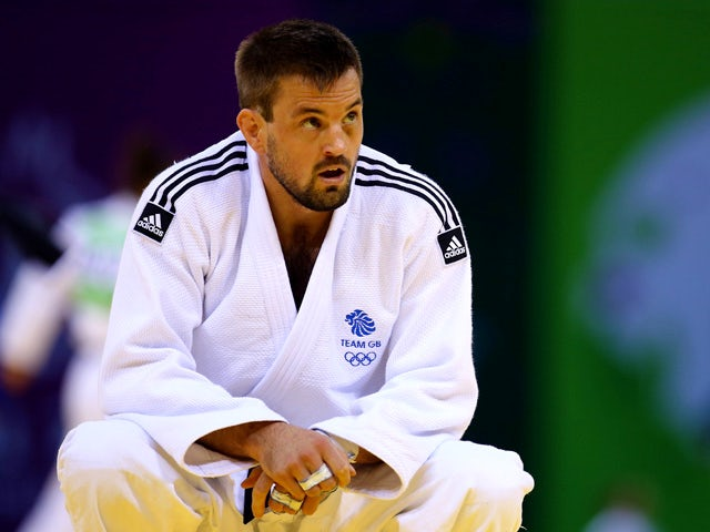 Colin Oates of Great Britain looks on after the Men's Judo -66kg round of 16 contest against Sergiu Oleinic of Portugal during day thirteen of the Baku 2015 European Games at the Heydar Aliyev Arena on June 25, 2015