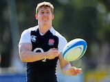 England player David Strettle in action during England Rugby training at the Jockey Club on June 6, 2013