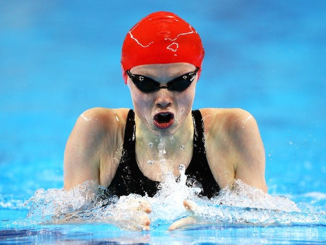 Georgia Coates in action during the women's 200m breaststroke semi-final at the European Games on June 24, 2015