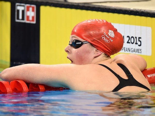Team GB swimmer Holly Hibbott in action in the women's 200m freestyle at the European Games on June 26, 2015