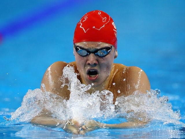 Team GB swimmer Jarvis Parkinson in action during the men's 200m IM semi-final at the European Games on June 24, 2015