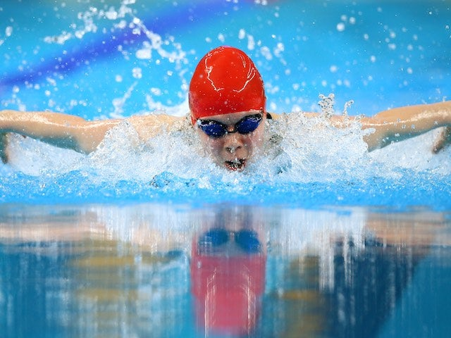 Team GB swimmer Laura Stephens in action at the European Games on June 27, 2015