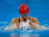 Team GB swimmer Layla Black in action during the women's 50m breaststroke at the European Games on June 23, 2015