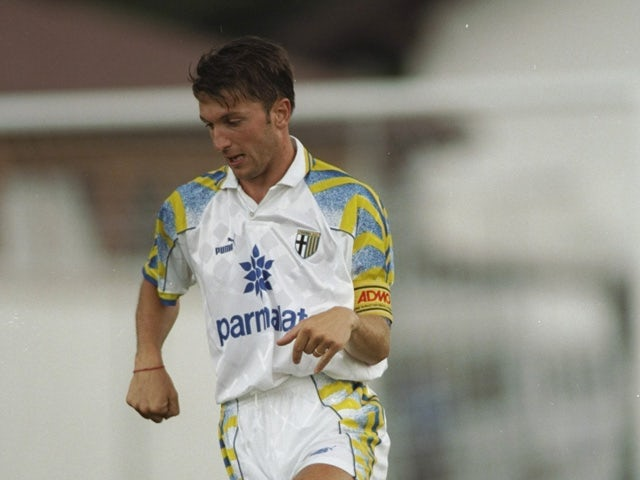Lorenzo Minotti of Parma AC in action during a match against Anderlecht at the Ennio Tardini Stadium in Parma, Italy