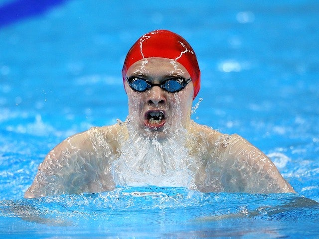 Team GB swimmer Luke Davies on his way to bronze in the men's 200m breaststroke at the European Games on June 24, 2015