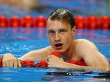 Luke Greenbank of Great Britain looks on after Men's 100m Backstroke semi finals during day eleven of the Baku 2015 European Games at the Baku Aquatics Centre on June 23, 2015