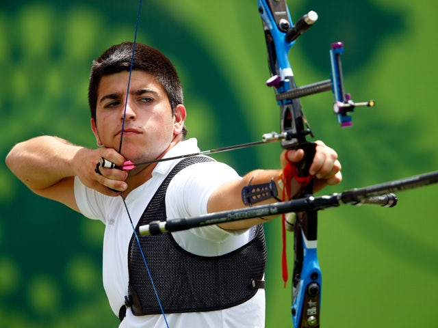 Miguel Alvarino Garcia of Spain competes in the Men's Individual competition during day ten of the Baku 2015 European Games at the Tofiq Bahramov Stadium on June 22, 2015