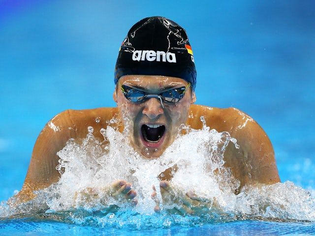 Paul Hentschel of Germany competes in the Men's 200m Individual Medley heats during day twelve of the Baku 2015 European Games at the Baku Aquatics Centre on June 24, 2015