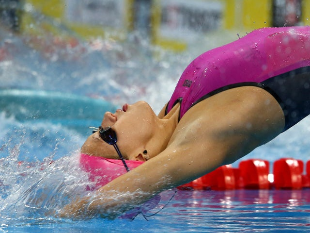 Polina Egorova of Russia competes in the Women's 200m Backstroke final during day twelve of the Baku 2015 European Games at the Baku Aquatics Centre on June 24, 2015