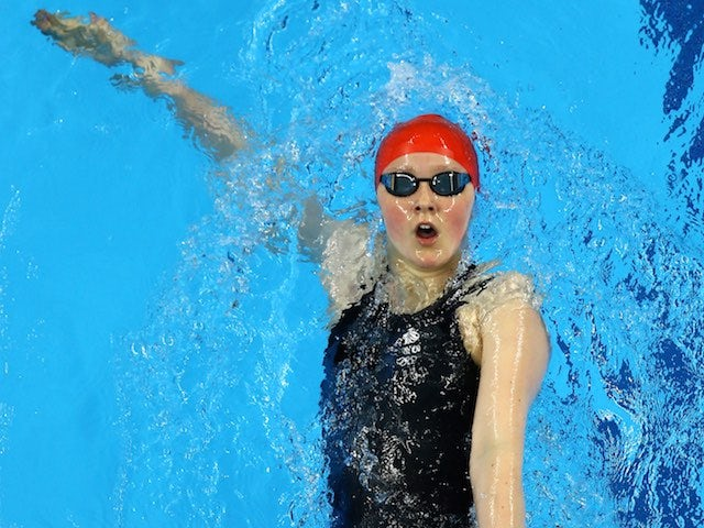 Team GB swimmer Rebecca Sherwin in action at the European Games on June 23, 2015