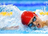 Team GB swimmer Tom Derbyshire in action during the men's 1500m freestyle final at the European Games on June 24, 2015