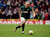 Dylan McGeouch of Hibs in action during the Scottish Championship match between Hibernian and Rangers at Easter Road on March 22, 2015