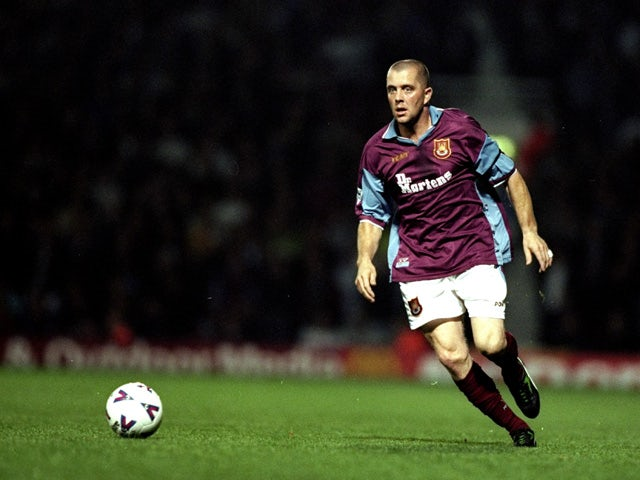 Julian Dicks of West Ham in action during the FA Carling Premiership match against Northhampton at Upton Park in London, England on September 22, 1998