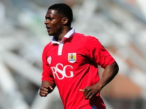 Kieran Agard of Bristol City in action during the Sky Bet League One match between Bristol City and Coventry City at Ashton Gate on April 18, 2015