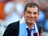 New West Ham manager Slaven Bilic looks on during the UEFA Europa League match between West Ham United and FC Lusitans at Boleyn Ground on July 2, 2015