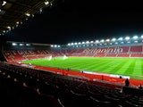 A general view of the stadium before the Barclays Premier League match between Stoke City and Manchester City at Britannia Stadium on February 11, 2015