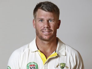 David Warner poses during an Australia portrait session in May 2015