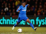 Georginio Wijnaldum of PSV in action during the Dutch Eredivisie match between Go Ahead Eagles and PSV Eindhoven held at the De Adelaarshorst Stadium on March 7, 2015