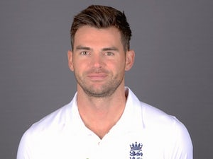 James Anderson poses during an England portrait session in May 2015