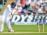 England's James Anderson is bowled out on day two of the First Test of The Ashes on July 9, 2015
