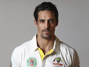 Mitchell Johnson poses during an Australia portrait session in May 2015