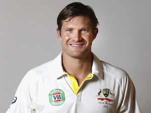 Shane Watson poses during an Australia portrait session in May 2015