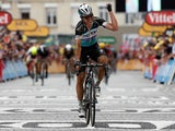 Tony Martin of Germany riding for Etixx-QuickStep celebrates as he wins stage four of the 2015 Tour de France from Seraing, Belgium to Cambrai, France on July 7, 2015