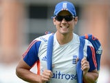 Alastair Cook during an England nets session on July 15, 2015