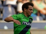 Cedric Soares of Southampton fight for the ball during the pre-season match for the 3rd place between FC Red Bull Salzburg and Southampton FC as part of the Audi Quattro Cup 2015 at Red Bull Arena on July 11, 2015