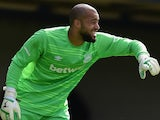 Darren Randolph of West Ham United in action during the pre season friendly match between Southend United and West Ham United at Roots Hall on July 18, 2015