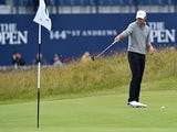 Jordan Spieth during a practice round at St Andrews ahead of the 144th Open Championship on July 13, 2015