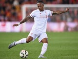 Nathaniel Clyne of Liverpool FC kicks the ball during the international friendly match between Brisbane Roar and Liverpool FC at Suncorp Stadium on July 17, 2015