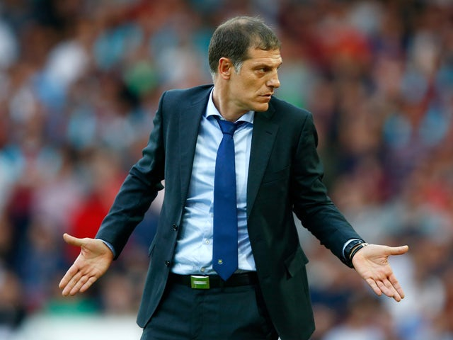 Slaven Bilic of West Ham looks on during the UEFA Europa League second qualifying round (first leg) match between West Ham and FC Birkirkara at the Boleyn Ground on July 16, 2015