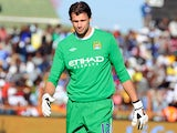 Stuart Taylor of Manchester City looks on during the 2009 Vodacom Challenge match between Orlando Pirates and Manchester City from Peter Mokaba Stadium on July 18, 2009