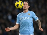 Manchester City's English defender Wayne Bridge controls the ball during the English Premier League football match between Manchester City and Aston Villa at The City of Manchester Stadium, Manchester, north-west England on December 28, 2010.